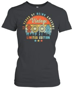 Vintage 2008 13th Birhtday 13 Years Old Limited Edition Bday  Classic Women's T-shirt