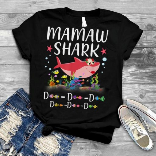 Mamaw Shark Shirt, Funny Mother's Day Floral Gift T Shirt