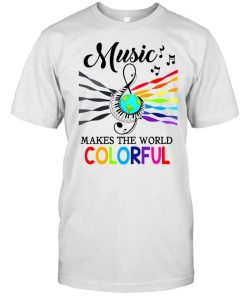Music make the world colorful  Classic Men's T-shirt