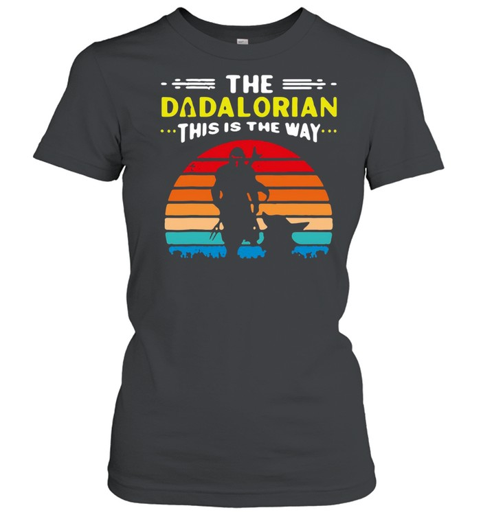 Baby Yoda The Dadalorian This Is The Way Vintage Retro T-shirt