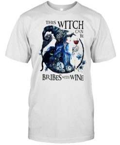 This witch can be bribed with wine halloween  Classic Men's T-shirt