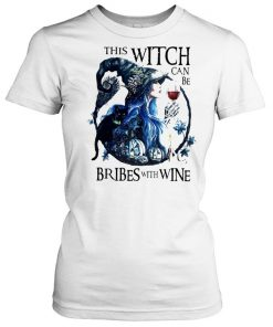 This witch can be bribed with wine halloween  Classic Women's T-shirt