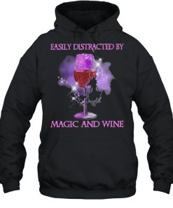 Witch easily distracted by Magic and Wine Halloween  Unisex Hoodie